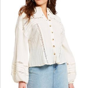 Free People off white blouse Sz M